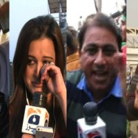 Personnel of television news channels harassed while covering protest demonstrations