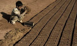 Child labor brick kiln