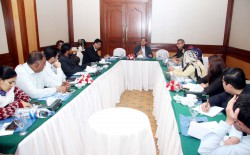 PPF Secretary General Owais Aslam Ali in a group discussion regarding safety of TV journalists