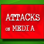 Media house pelted with stones