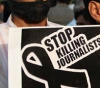 Journalists protest against targeted killing of colleague