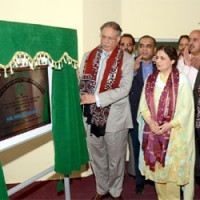 Rashid inaugurates Radio Pakistan's new transmitter in Karachi