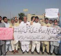 Fata journalists protest against arrest of colleagues