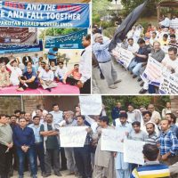 Protest held across country to show solidarity with Dawn