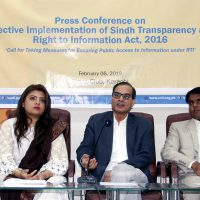 Press conference on effective implementation of Sindh Transparency and Right to Information Act 2016