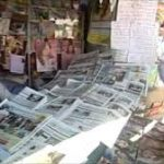 Action against newspaper stalls