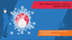Media safety and press freedom in Pakistan 2019-2020 PPF